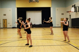Nationals Baton Corps Practice